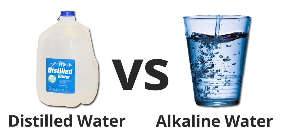 distilled water vs alkaline water